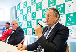 Marko Umberger, president of TZS during Official Draw of Davis Cup 2018 Europe/Africa zone Group II between Slovenia and Turkey, on April 6, 2018 in Portoroz / Portorose, Slovenia. Photo by Vid Ponikvar / Sportida