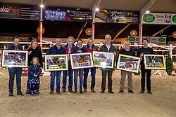 Huldiging fokkers, Van Waes Maarten, Igor, De WInter Perry, Gancia de Muze, Vanderlinden-Van Turtelboom-Ruys, Indiana C&C, Lannoo Johan, Espoir, Van Hoecke Ivan, Hester, De Craene Tom, Jasmien vd Bisschop<br /> BWP Hengstenkeuring - Lier 2020<br /> © Hippo Foto - Dirk Caremans<br /> 17/01/2020