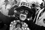 The Zulu's arrive to New Orleans via the Mississippi river. They are the one of the largest and most popular Mardis Gras Krewes. They marched through the French Quarter of New Orleans to announce their arrival along with the Algiers Brass Band...