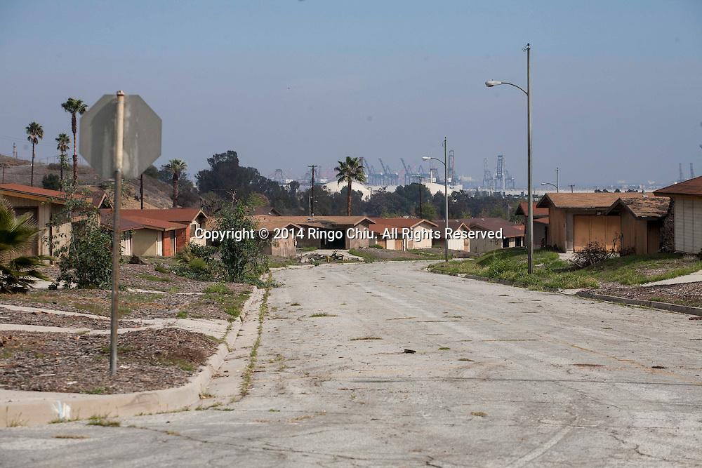 The dilapidated houses at Ponte Vista in San Pedro.<br /> (Photo by Ringo Chiu/PHOTOFORMULA.com)