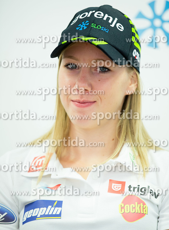 Anja Erzen during press conference of Slovenian Women Cross Country team, on September 20, 2012 in SZS, Ljubljana, Slovenia. (Photo By Vid Ponikvar / Sportida)
