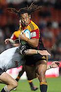 Chiefs' Tana Umaga in action. Super 15 rugby union match, Chiefs v Sharks at Waikato Stadium, Hamilton, New Zealand. Friday 18th March 2011. Photo: Anthony Au-Yeung / photosport.co.nz