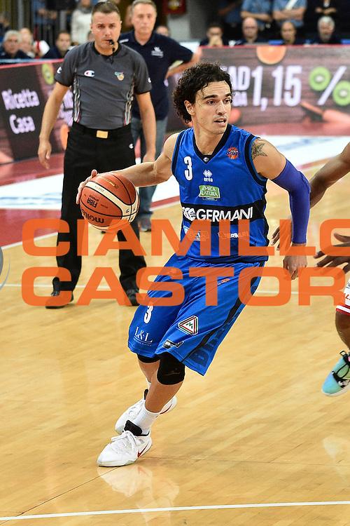 Passera Marco<br /> Consultinvest Pesaro - Germani Basket Brescia<br /> BASKET Serie A 2016 <br /> Pesaro 02/10/2016 <br /> FOTO CIAMILLO