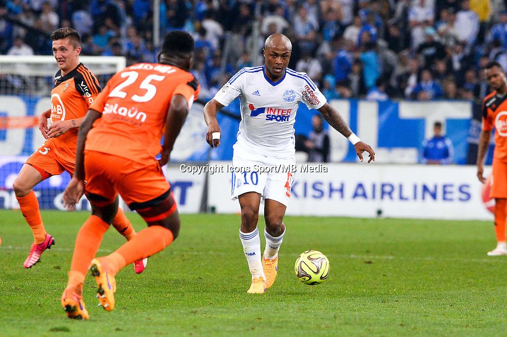 Andre AYEW - 24.04.2015 - Marseille / Lorient - 34eme journee de Ligue 1<br />Photo : Gaston Petrelli / Icon Sport
