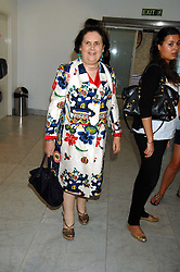 SUZY MENKES at a reception hosted by Vogue magazine to launch photographer Tim Walker's book 'Pictures' sponsored by Nude, held at The Design Museum, Shad Thames, London SE1 on 8th May 2008.<br />
