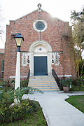 Sacred Heart Chapel; National Hansen's Disease Museum buildings tour at Carville, Louisiana on January 30, 2019