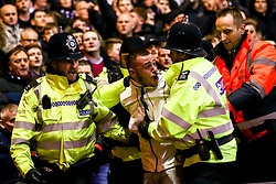 An Aston Villa is arrested - Mandatory by-line: Robbie Stephenson/JMP - 13/03/2019 - FOOTBALL - The City Ground - Nottingham, England - Nottingham Forest v Aston Villa - Sky Bet Championship