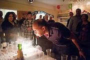 Isaac Sarayiah at his 40th birthday. Willesden. 29 February 2012