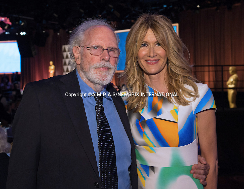 02.02.2015; Beverly Hills, California: 87TH OSCAR NOMINEES LUNCHEON - BRUCE AND LAURA DERN<br /> Oscar Nominees attended the annual Nominees Luncheon that honours this year's contenders for the Oscars at the Beverly Hilton, Beverly Hills, Los Angeles<br /> Awards for outstanding film achievements of 2014 will be presented on Oscar Sunday, February 22, 2015, at the Dolby Theatre&reg; at Hollywood &amp; Highland Center&reg;, Los Angeles.<br /> Mandatory Photo Credit: &copy;Harbaugh/Newspix International<br /> <br />               **ALL FEES PAYABLE TO: &quot;NEWSPIX INTERNATIONAL&quot;**<br /> <br /> PHOTO CREDIT MANDATORY!!: NEWSPIX INTERNATIONAL(Failure to credit will incur a surcharge of 100% of reproduction fees)<br /> <br /> IMMEDIATE CONFIRMATION OF USAGE REQUIRED:<br /> Newspix International, 31 Chinnery Hill, Bishop's Stortford, ENGLAND CM23 3PS<br /> Tel:+441279 324672  ; Fax: +441279656877<br /> Mobile:  0777568 1153<br /> e-mail: info@newspixinternational.co.uk