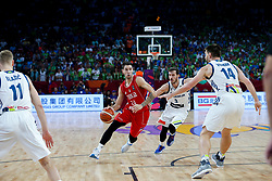Stefan Jovic of Serbia vs Goran Dragic of Slovenia during the Final basketball match between National Teams  Slovenia and Serbia at Day 18 of the FIBA EuroBasket 2017 at Sinan Erdem Dome in Istanbul, Turkey on September 17, 2017. Photo by Vid Ponikvar / Sportida