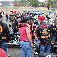 Libby Ezell | BUY AT PHOTOS.DJOURNAL.COM<br /> For many of the bikers, the Toy Run was a way to catch up with old buddies