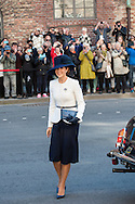 04.10.2016. Copenhagen, Denmark.  <br /> Crown Princess Mary's arrival to Christiansborg Palace for attended the opening session of the Danish Parliament (Folketinget).<br /> Photo: &copy; Ricardo Ramirez