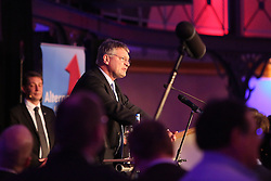 13.03.2016, Alte Reithalle, Stuttgart, GER, Stuttgarter AFD Wahlparty, im Bild AfD Spitzenkandidat fuer die Landtagswahl 2016 in Baden-Wuerttemberg Joerg Meuthen // AfD leading candidate for the state election in 2016 in Baden-Wuerttemberg Joerg Meuthen during the Election Party of the AFD at Alte Reithalle in Stuttgart, Germany on 2016/03/13. EXPA Pictures © 2016, PhotoCredit: EXPA/ Eibner-Pressefoto/ Fudisch<br /> <br /> *****ATTENTION - OUT of GER*****