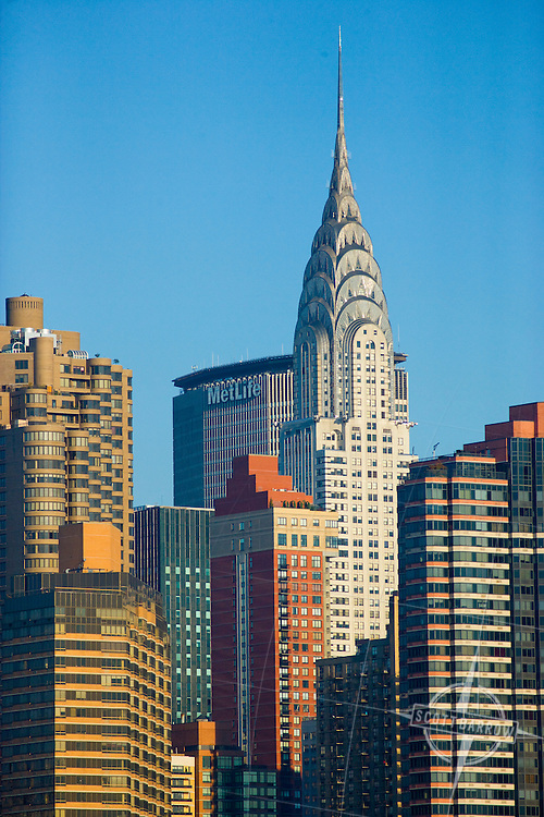 The Chrysler Building and other East Side towers in New York City.
