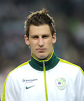 Fussball International, Nationalmannschaft   EURO 2012 Qualifikation, Slowenien - Italien          25.03.2011 Valter BIRSA (Slowenien)