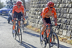 March 16, 2019 - Col De Turini, France - DE LA PARTE Victor (ESP) of CCC TEAM and DE MARCHI Alessandro (ITA) of CCC TEAM in action during stage 7 of the 2019 Paris - Nice cycling race with start in Nice and finish in Col de Turini  on March 16, 2019 in Col De Turini, France, (Credit Image: © Panoramic via ZUMA Press)
