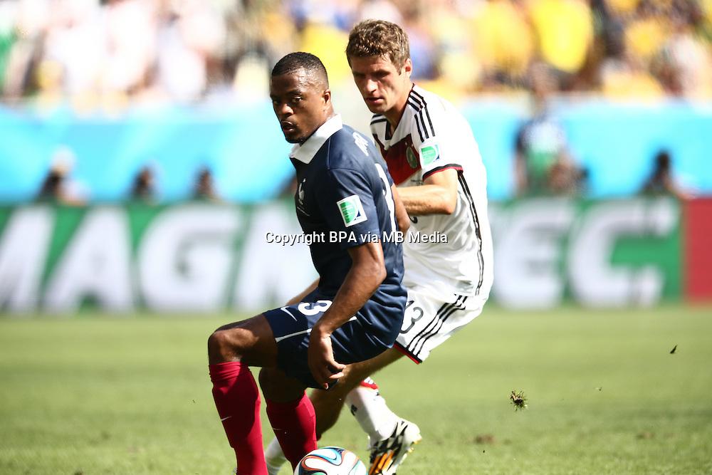 Patrice Evra. France v Germany, quarter-final. FIFA World Cup Brazil 2014. 4 July 2014