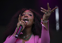 May 26, 2019 - Falcon Heights, MN, U.S.A - SZA performed on the St. Paul stage during her set Sunday evening.  ]  JEFF WHEELER • jeff.wheeler@startribune.com ....The 12th annual Soundset festival was held Sunday, May 26, 2019 at the Minnesota Fairgrounds. (Credit Image: © Jeff Wheeler/Minneapolis Star Tribune via ZUMA Wire)