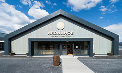 View of new Ardnahoe Distillery on island of Islay in Inner Hebrides of Scotland, UK