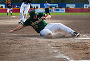 Australia's Julian Jemmott slides into home during playoff 2017 Men's World Softball Championship action on July 14.