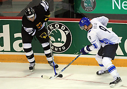 Mikko Koivu (right) at ice-hockey match Finland vs Germany (they played in replika jerseys like they were in year 1932) at Preliminary Round (group C) of IIHF WC 2008 in Halifax, on May 03, 2008 in Metro Center, Halifax, Canada. (Photo by Vid Ponikvar / Sportal Images)Won of Finland 5:1.