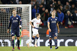 Daniel Schwaab of PSV (L), Trent Sainsbury of PSV (R) during the UEFA Champions League group C match between Tottenham Hotspur FC and PSV Eindhoven at the Wembley stadium on November 06, 2018 in London, England