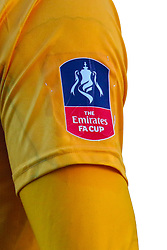 An Emirates FA Cup sleeve badge - Mandatory by-line: Ryan Crockett/JMP - 11/11/2018 - FOOTBALL - One Call Stadium - Mansfield, England - Mansfield Town v Charlton Athletic - Emirates FA Cup first round proper