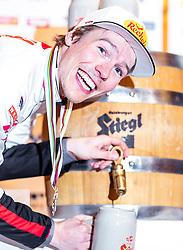 22.02.2019, Seefeld, AUT, FIS Weltmeisterschaften Ski Nordisch, Seefeld 2019, Medaillenempfang Team Österreich Nordische Kombination, im Bild Bronzemedaillengewinner Franz Josef Rehrl (AUT) // Bronze medalist Franz Josef Rehrl of Austria during the medal party of nordic combine team Austria of FIS Nordic Ski World Championships 2019 Seefeld. in Seefeld, Austria on 2019/02/22. EXPA Pictures © 2019, PhotoCredit: EXPA/ JFK