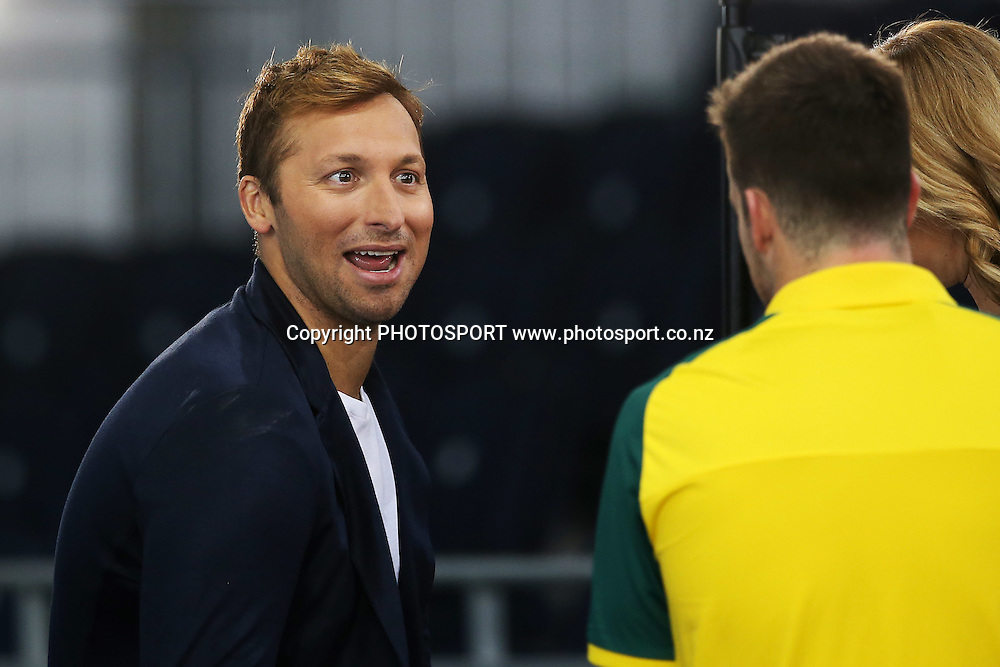 Australian swimmer Ian Thorpe is seen at the Australian team training. Swimming Venue Preview. The Glasgow Commonwealth Games 2014 at the Tollcross International Swimming Centre, Glasgow, Scotland. Tuesday 22nd July 2014. Photo: Anthony Au-Yeung / photosport.co.nz