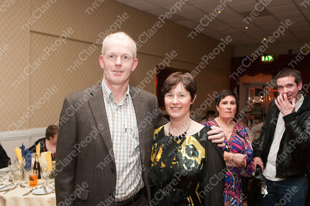 Pictured at the Newmarket on Fergus GAA Victory Social Night in Clare Inn Hotel were:<br /> Mike Clancy &amp; Ann Birmingham.<br /> Picture Credit  Brian Gavin Press 22