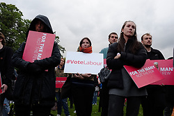 June 6, 2017 - Croydon, England, United Kingdom - Hundreds of people gather in Croydon, south London for one of the Labour parties final campaign rallies before the general election on 6 June 2017. Labour Leader, Jeremy Corbyn appeared on screen from Birmingham, where he was giving a speech at another rally. Among the speakers was shadow chancellor, John McDonnell. (Credit Image: © Jay Shaw Baker/NurPhoto via ZUMA Press)