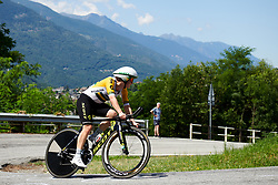 Grace Brown (AUS) during Stage 6 of 2019 Giro Rosa Iccrea, a 12.1 km individual time trial from Chiuro to Teglio, Italy on July 10, 2019. Photo by Sean Robinson/velofocus.com