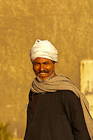 Man outside church near Corniche Al-Nil, Cairo, Egypt