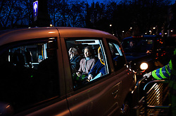 © Licensed to London News Pictures. 07/12/2016. London, UK. GINA MILLER in a taxi as she leaves the Supreme Court in Westminster, London following day three of a hearing to appeal against a November 3 High Court ruling that Article 50 cannot be triggered without a vote in Parliament. Photo credit: Ben Cawthra/LNP
