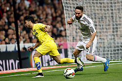01.03.2015, Estadio Santiago Bernabeu, Madrid, ESP, Primera Division, Real Madrid vs FC Villarreal, 25. Runde, im Bild Carvajal of Real Madrid // during the Spanish Primera Division 25th round match between Real Madrid CF and Villarreal at the Estadio Santiago Bernabeu in Madrid, Spain on 2015/03/01. EXPA Pictures © 2015, PhotoCredit: EXPA/ Alterphotos/ Caro Marin<br /> <br /> *****ATTENTION - OUT of ESP, SUI*****