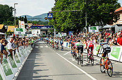 Finish line in Rogaska Slatina during 1st Stage of 26th Tour of Slovenia 2019 cycling race between Ljubljana and Rogaska Slatina (171 km), on June 19, 2019 in  Slovenia. Photo by Vid Ponikvar / Sportida