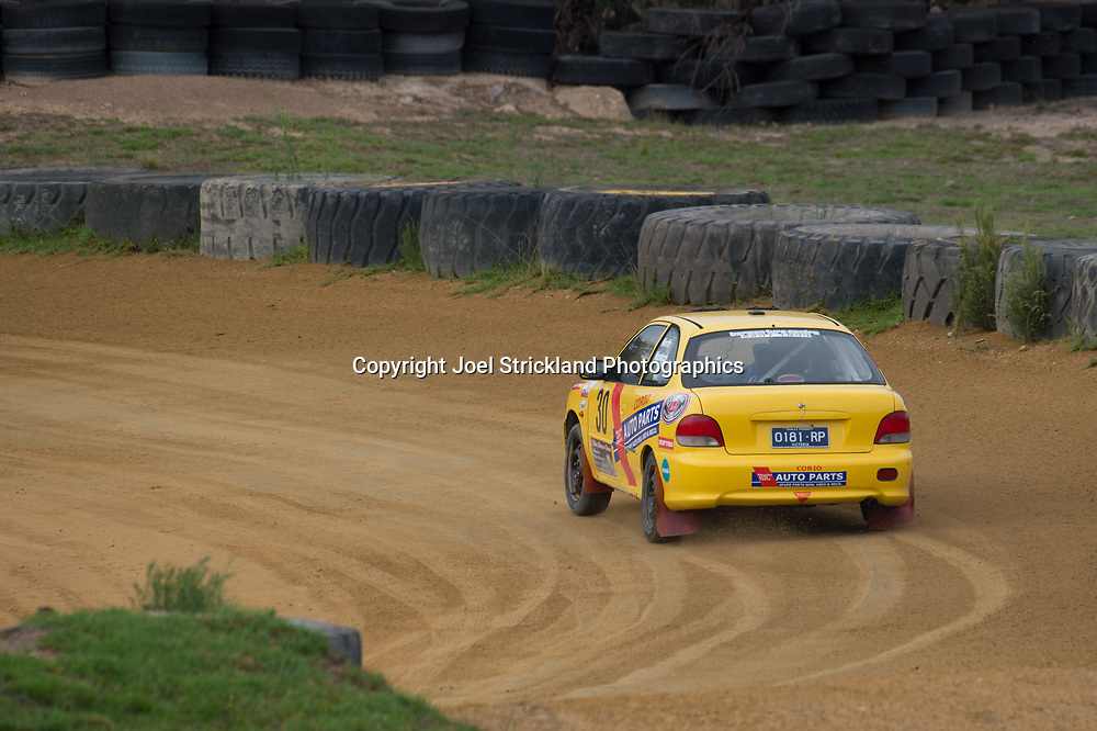 Ross Murdoch - Hyundai Excel - Rallycross Australia - Rnd 1 - February 26th 2017. MARULAN DIRT & TAR CIRCUITS, MARULAN, NSW