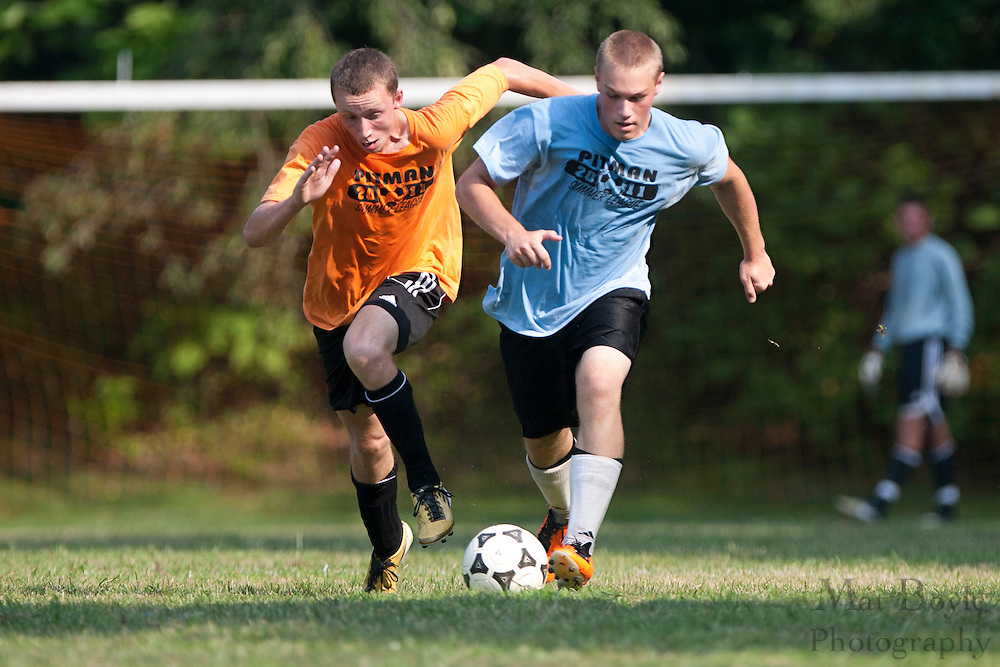 during a Pitman Summer League match on Tuesday July 21, 2011.