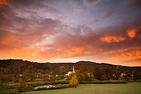 Stowe Fall Sunrise, Vermont