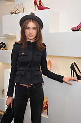TALI LENNOX at the opening party for Nicholas Kirkwood's new store at 5 Mount Street, London on 12th May 2011.