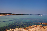 beautiful pampelone beach near saint tropez on the french riviera