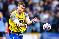 Cardiff Blues' Garyn Smith during the pre match warm up<br /> <br /> Photographer Craig Thomas/Replay Images<br /> <br /> European Rugby Challenge Cup Round Semi final - Cardiff Blues v Pau - Saturday 21st April 2018 - Cardiff Arms Park - Cardiff<br /> <br /> World Copyright © Replay Images . All rights reserved. info@replayimages.co.uk - http://replayimages.co.uk
