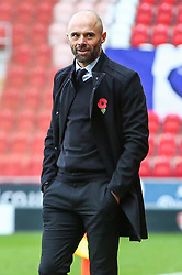 Rotherham United manager Paul Warne smiling - Mandatory by-line: Ryan Crockett/JMP - 28/10/2017 - FOOTBALL - Aesseal New York Stadium - Rotherham, England - Rotherham United v Gillingham - Sky Bet League One