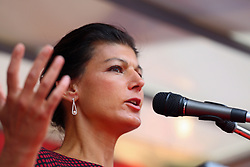 June 27, 2017 - Munich, Bavaria, Germany - The German opposition leader Sahra Wagenknecht came to talk in Munich. Several hundred came to listen. (Credit Image: © Alexander Pohl/Pacific Press via ZUMA Wire)