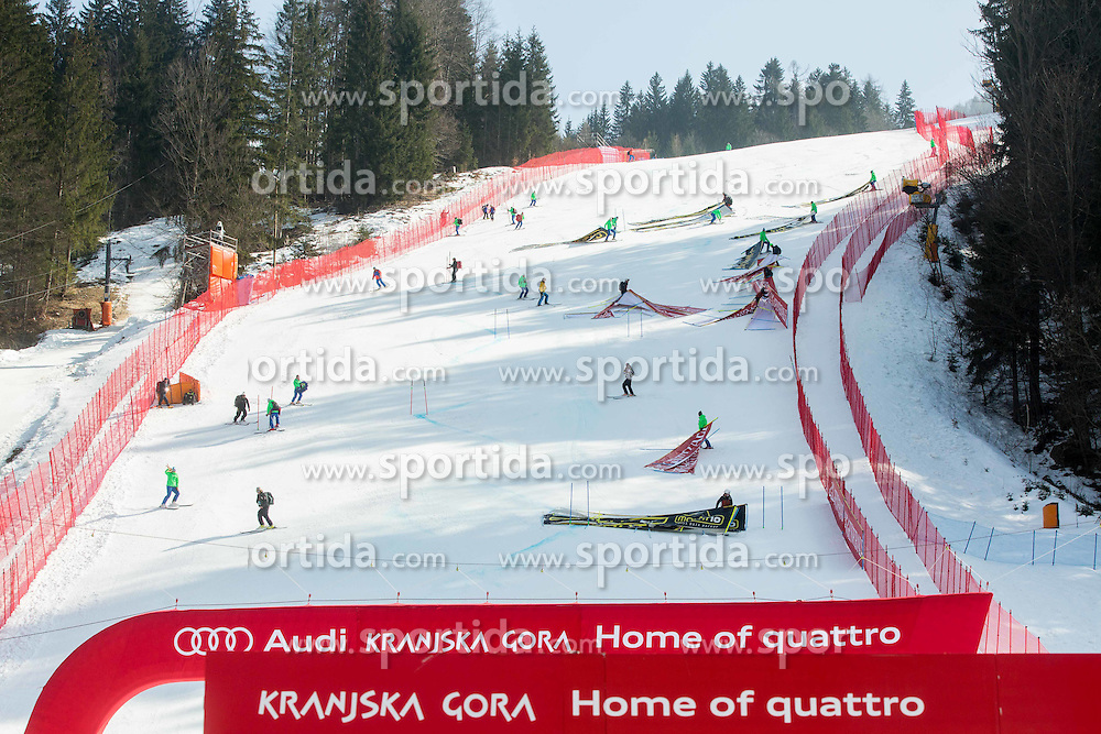 Course after the Men Giant Slalom race of FIS Alpine Ski World Cup 54th Vitranc Cup 2015, on March 14, 2015 in Kranjska Gora, Slovenia. Photo by Vid Ponikvar / Sportida
