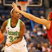 Jewell Loyd, Notre Dame, in action during the Notre Dame Fighting Irish V Louisville Cardinals Semi Final match during the Big East Conference, 2013 Women's Basketball Championships at the XL Center, Hartford, Connecticut, USA. 11th March. Photo Tim Clayton