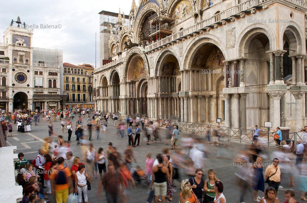 San Marco's square, Venice, Italy, on sept 7, 2008. Venezia, Piazza San Marco