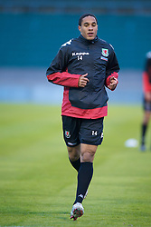 LUXEMBOURG CITY, LUXEMBOURG - Tuesday, March 25, 2008: Wales' Ashley Williams during training at the Stade Josy Barthel ahead of the International Friendly match against Luxembourg. (Photo by David Rawcliffe/Propaganda)
