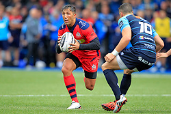 Gavin Henson of Bristol Rugby (L) in action with Steve Shingler of Cardiff Blues - Mandatory by-line: Ian Smith/JMP - 20/08/2016 - RUGBY - BT Sport Cardiff Arms Park - Cardiff, Wales - Cardiff Blues v Bristol Rugby - Pre-season friendly