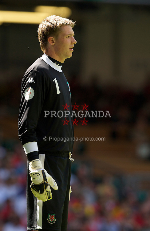 Cardiff, Wales - Saturday, June 2, 2007: Wales' goalkeeper Wayne Hennessey in action against Czech Republic during the UEFA Euro 2008 Qualifying Group D match at the Millennium Stadium. (Pic by David Rawcliffe/Propaganda)